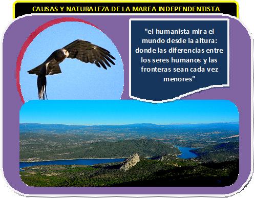 El independentismo a vista de águila